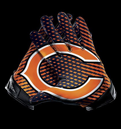 chicago bears new nike gloves 1. Black Bedroom Furniture Sets. Home Design Ideas
